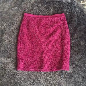 Dark Fuchsia pencil skirt